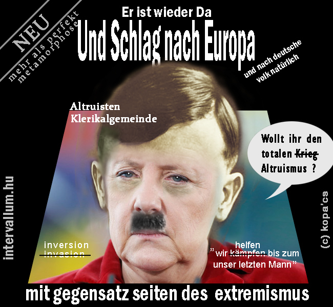Hitler inverted to Angela Merkel